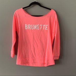 Next Level Apparel Brunette Sweatshirt Pink Small